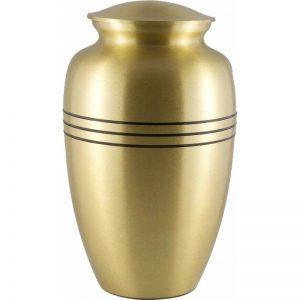 urne funéraire en laiton Gloria sobre et élégante pour recueillement des cendres du défunt