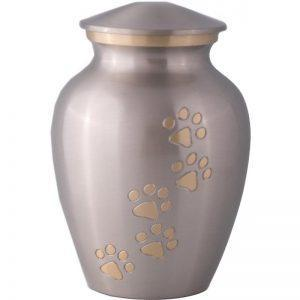 Paw pewter bronze / Pet urn