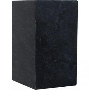 urne funéraire en marbre naturel noir pour recueillir cendres du défunt