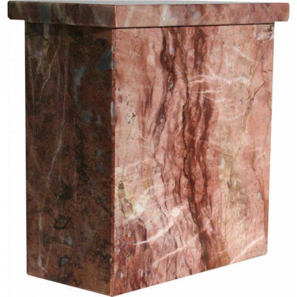 urne funéraire en marbre rose pour recueillement cendres être cher