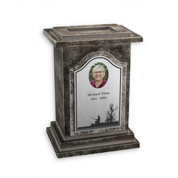 urne funéraire en aluminium design offerte avec gravure personnalisée disponible en option chez Salon Funéraire Demers