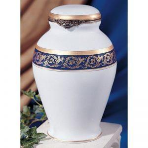 Urne funéraire en porcelaine de limoges disponible chez salon funéraire Demers