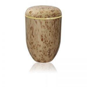 Urne funéraire biodégradable avec fini bois d'érable piqué