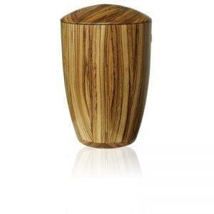 Urne de bois massif