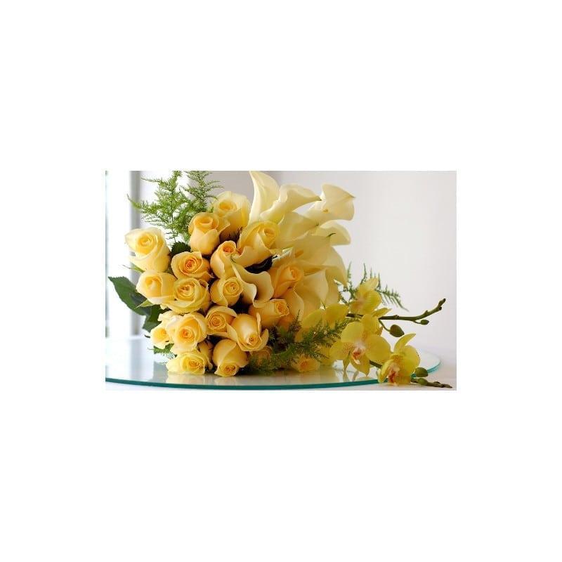 Roses Callas Orchidées