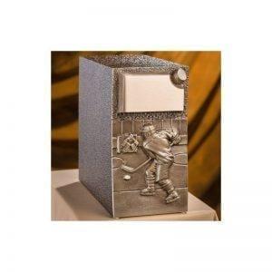 urne funéraire en zinc et bronze Hockey pour honorer dignement la mémoire d'un amateur de hockey et de sport